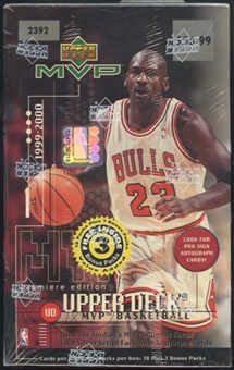 1999/00 Upper Deck MVP Basketball Blaster Box