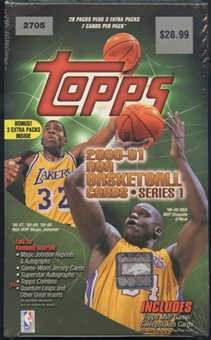 2000/01 Topps Series 1 Basketball Blaster Box