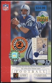 2001 Upper Deck Football Blaster Box