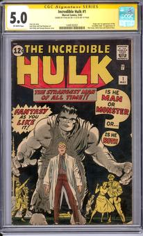 Incredible Hulk #1 CGC 5.0 Stan Lee Signature Series (OW) *1449182001*