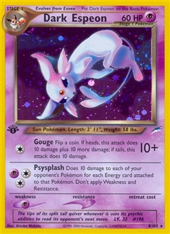 Pokemon Neo Destiny 1st Edition Single Dark Espeon 4/105 - SLIGHT PLAY (SP)