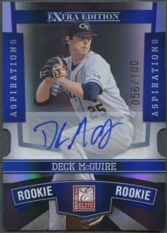 2010 Donruss Elite Extra Edition #128 Deck McGuire Signature Aspirations Auto #056/100