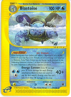 Pokemon Expedition Single Blastoise 37/165 - Reverse Foil