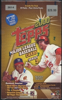 2000 Topps Series 2 Baseball Blaster Box