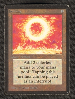 Magic the Gathering Beta Single Sol Ring - MODERATE PLAY (MP)