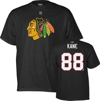 Patrick Kane Chicago Blackhawks Black Reebok T-Shirt  (Size Large)