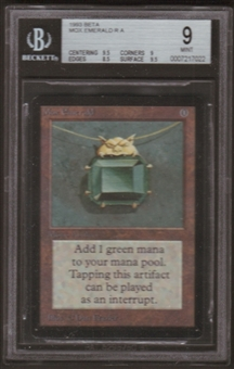Magic the Gathering Beta Single Mox Emerald BGS 9
