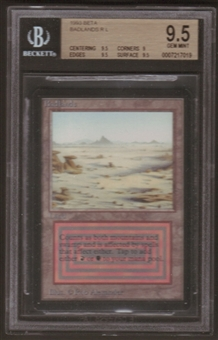 Magic the Gathering Beta Single Badlands BGS 9.5
