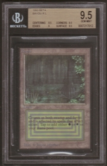 Magic the Gathering Beta Single Bayou BGS 9.5