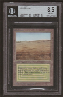 Magic the Gathering Beta Single Savannah BGS 8.5