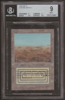 Magic the Gathering Beta Single Scrubland BGS 9