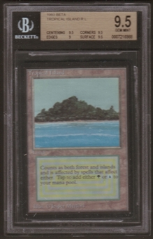 Magic the Gathering Beta Single Tropical Island BGS 9.5