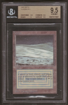 Magic the Gathering Beta Single Tundra BGS 9.5