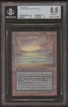Magic the Gathering Beta Single Underground Sea BGS 8.5
