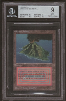 Magic the Gathering Beta Single Volcanic Island BGS 9