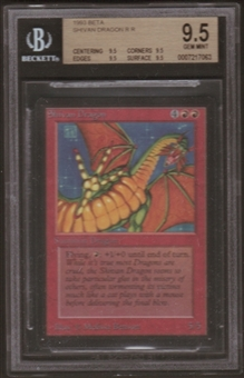 Magic the Gathering Beta Single Shivan Dragon BGS 9.5