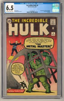 Incredible Hulk #6 CGC 6.5 (OW-W) *1451640017*