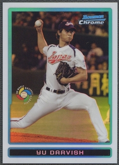 2009 Bowman Chrome #BCW1 Yu Darvish WBC Prospects Refractor /599