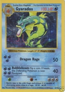 Pokemon Base Set 1 Single Gyarados 6/102 - Shadowless