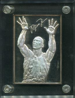 1996 Upper Deck Michael Jordan 6 Troy Oz Silver Ingot Sample Card