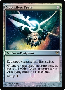 Magic the Gathering Avacyn Restored Single Moonsilver Spear Foil (Prerelease)