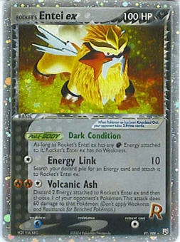 Pokemon Team Rocket Returns Single Rockets Entei ex 97/109