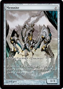Magic the Gathering Scars of Mirrodin Single Memnite (Full Art Gameday Promo)