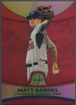 2010 Bowman Platinum #PP30 Matt Barnes Prospects Red Refractor #22/25