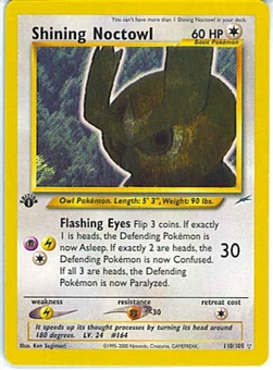 Pokemon Neo Destiny 1st Edition Single Shining Noctowl 110/105 - NEAR MINT / SLIGHT PLAY (NM/SP)