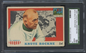 1955 Topps All American Football #16 Knute Rockne SGC 50 (VG-EX) *3016