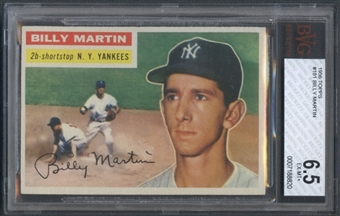 1956 Topps Baseball #181 Billy Martin BVG 6.5 (EX-MT+) *8820