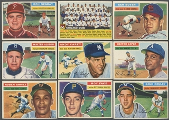 1956 Topps Baseball Starter Set (EX-MT) (171 Different)