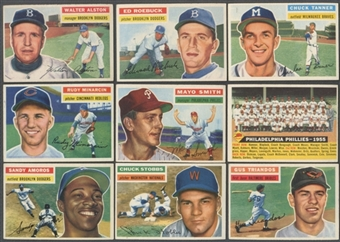 1956 Topps Baseball Lot of 68 Cards (67 Different) EX