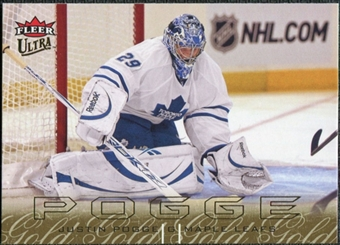 2009/10 Fleer Ultra Gold Medallion #138 Justin Pogge