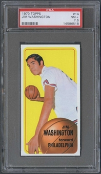 1970/71 Topps Basketball #14 Jim Washington PSA 7.5 (NM+) *6518