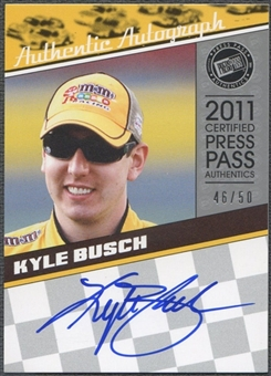 2011 Press Pass Legends #LGAKYB Kyle Busch Silver Auto #46/50