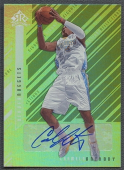 2006/07 Reflections #CA Carmelo Anthony Signature Silver Auto