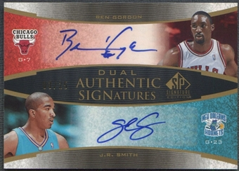 2005/06 SP Signature Edition #GS Ben Gordon & J.R. Smith Signatures Dual Auto #03/25