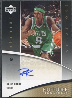 2006/07 Upper Deck Trilogy #FSRR Rajon Rondo Generations Future Signatures Rookie Auto