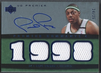 2007/08 Upper Deck Premier #PP Paul Pierce Remnants Quad Jersey Auto #24/25