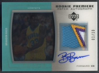 2005/06 Upper Deck Trilogy #BB Brandon Bass Rookie Premiere Patch Auto #01/10