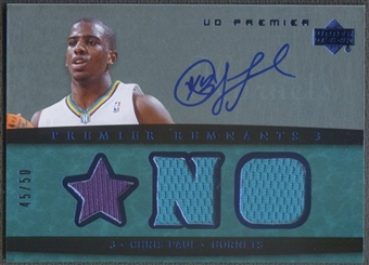 2007/08 Upper Deck Premier #CP Chris Paul Remnants Triple Jersey Auto #45/50