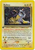 Pokemon Neo Revelations 1st Edition Single Raikou 13/64