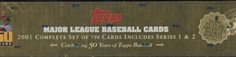 2001 Topps Baseball Retail Factory Set (Box) (Gold)