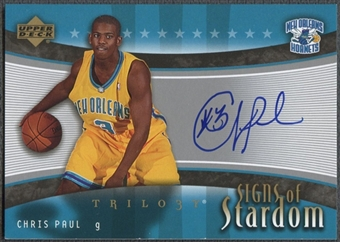 2005/06 Upper Deck Trilogy #CP Chris Paul Stardom Auto