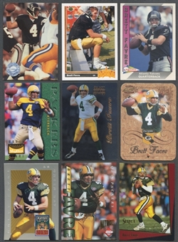 Brett Favre 117 Card Lot Loaded with Rookies & Inserts