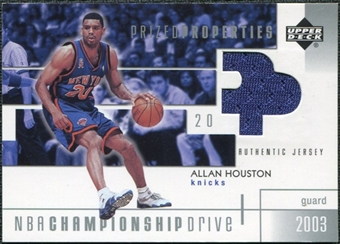 2002/03 Upper Deck Championship Drive Prized Properties Jersey #AHPP Allan Houston