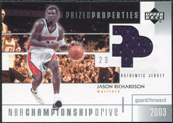 2002/03 Upper Deck Championship Drive Prized Properties Jersey #JRPP Jason Richardson