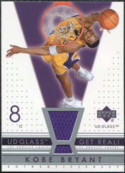 2002/03 Upper Deck UD Glass Get Real Jersey #KBR Kobe Bryant SP