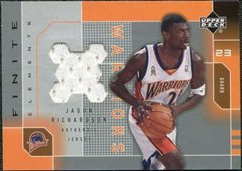 2002/03 Upper Deck Finite Elements Jerseys #JRJ Jason Richardson
